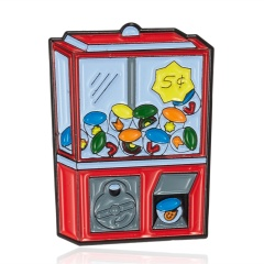 Coin-operated candy machine alloy painted oil small brooch badge candy machine