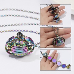 Expanding 4 Photo Locket Necklace Magic Ball Heart Angel Wing Pendant Jewellery Colorful