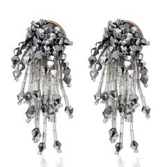 Rice bead tassel earrings 6