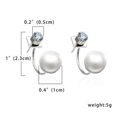 Pearl rear hanging earrings 1