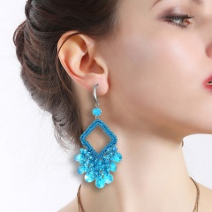 Geometric hollow out square earrings 2
