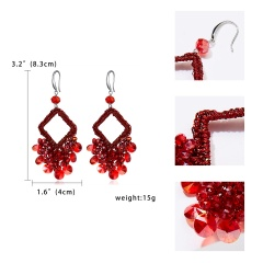 Geometric hollow out square earrings 1