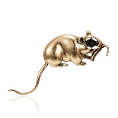 Fashion Cute Women Crystal Animal Mouse Enamel Brooch Pin Jewelry New Year Gift 3