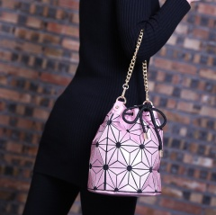Portable Beam Mouth Handbag lady Bucket Bag Shoulder Bags Cosmetics Storage Bag Pink