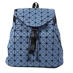 Plaid Two-shoulder Bucket Travel Backpack Jean Bag Little plaid
