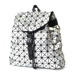 The Silver Geometric Diamond Backpack Holds The Traveling Student Backpack Silver