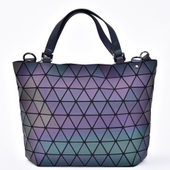 Geometric Laser Bag Luminous Ringer Bag One Shoulder Bag Rhombus