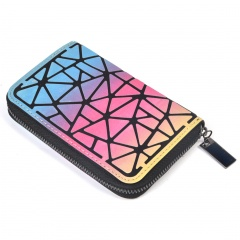 Colorful Long Zipper Hand With Change Wallet Irregular triangle