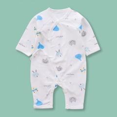 Newborn Infant Baby Boy Girls Cartoon Elephants&Frogs Belted Dress Jumpsuit Sleepwear Casual Summer New Born Clothes Elephants&Frogs 0-6 Months(52)