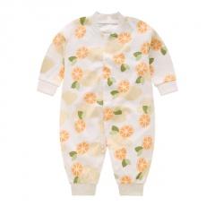2020 Baby Sweet Orange Pattern Clothes Jumpsuit Newborn Pajamas Infants Baby Boys Clothes Toddler Girls Clothing Sweet Orange 0-3 Months(59)