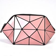 Pink Triangle Makeup Bag, Linger Wash Bag, Bag In Hand Pink