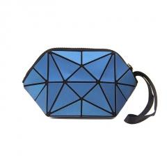 Dark Blue Black Triangle Makeup Bag, Linger Wash Bag, Bag In Hand 20*10.5*10.5cm Dark blue