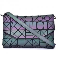 Geometric Rhombus Messenger Bag Luminous Folding Female Bag MS3160B-2