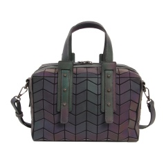 Geometric Diamond Color-changing Bag Single Shoulder Cross-body Luminous Pillow Bag Handbag 26*17*13cm Hexagon
