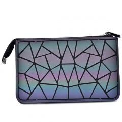 Geometric Diamond Luminous Three-layer Wallet Chain Bag Single-Shoulder Bag Cross-Body Bag 23.5*14.5cm Irregular triangle style