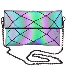 Geometric Ringer Chain Bag Luminous One-shoulder Bag Crossbody Bag 24*15cm The diamond model
