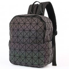 Geometric Ringer Backpack Travel Storage Bag Zipper Bag 23.5*11.5*29cm The triangle model