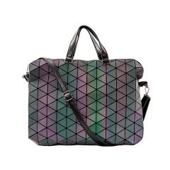 Geometric Ringer Bag Luminous Briefcase Hand-held Laptop Bag 38*34*7.5cm The diamond model