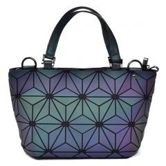 Geometric Ringer Handbag Bucket Pack 33*19*12.5cm Flower
