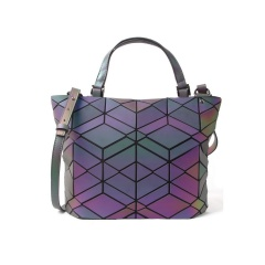 Geometric Laser Bag Luminous Ringer Bag Single Shoulder Bag 37*25.5*13cm Rhombus