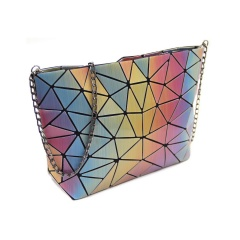 Geometric Ringer Bag Shoulder Bag Crossbody Bag Chain Bag28*18*7cm Scalene triangle