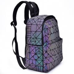 Geometric Ringer Backpack Travel Pack Zipper Bag35*26*14.5cm The geometric model