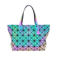 Geometric Ringer Bag Glow-lit Folding One-shoulder Handbag 43*26.5*10.5cm Triangle