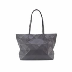 Ringer Backstrap PU Leather One-Shoulder Handbag Gray