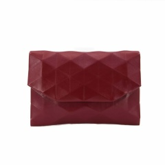 Ringer Back PU Leather Single Shoulder Slant Span Envelope Purse 26.5 *17*2cm Red