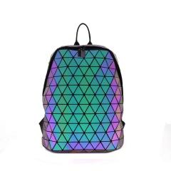 Geometric Ringer Luminous Backpack Outdoor Travel Backpack College Wind Bag 43*31*10cm The diamond model