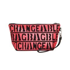 Glitter Letter Zipper Cosmetic Organizer Bag In Hand pink