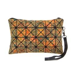 Geometric Ringer Bag Cork Printed Bag Folding bag Cosmetic Storage Zipper Hand Bag 24*16cm