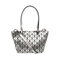 Geometric Ringer Bag Single Shoulder Bag Cross Body Bag 33.5*19*13cm Silver