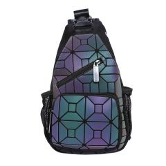Geometric Diamond Noctilucent Color Change Backpack Shoulder Travel 17.5*5.5*31cm square