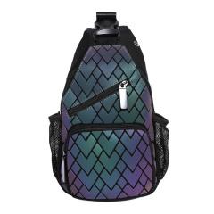 Geometric Diamond Noctilucent Color Change Backpack Shoulder Travel 17.5*5.5*31cm heart-shaped