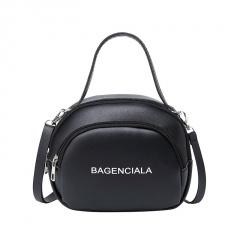 Letter Print Fashion Shoulder Bag Messenger Bag Black