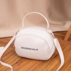 Letter Print Fashion Shoulder Bag Messenger Bag White