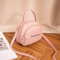 Letter Print Fashion Shoulder Bag Messenger Bag Pink