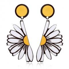 Cartoon Geometric Acrylic Boho Resin Drop Dangle Stud Earrings Daisy