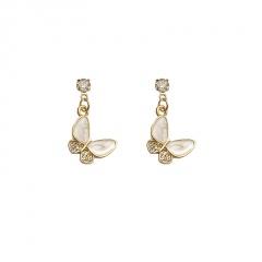 Women's Butterfly Crystal Ear Hoop Earrings Drop Dangle Jewelry Gift Elegant Hot Stud Earring