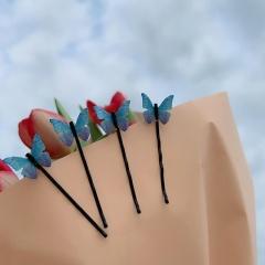 2020 Fashion Girl Butterfly Hair Clips Bridal Barrettes Hair Pins Accessories Blue
