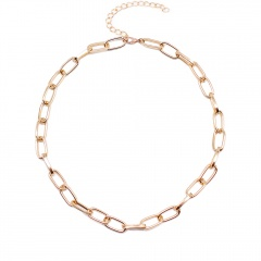 Women Simple Silver Chain Necklace Fashion Statement Choker Collar Chunky Gifts Gold
