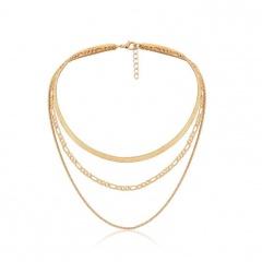 Boho Multi-layer Gold Chain Necklace Women Fashion Bead Statement Choker Jewelry Gold