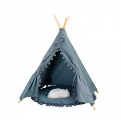 Dog Kennel Cat Litter Cotton Canvas Pet Tent Removable And Washable Green