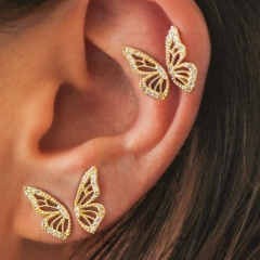 4pcs Butterfly Wing Insect Earrings Ear Stud Women Boho Cute Fashion Jewelry New Butterfly