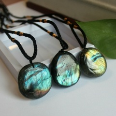 Natural stone necklace Each one is different, random style 1