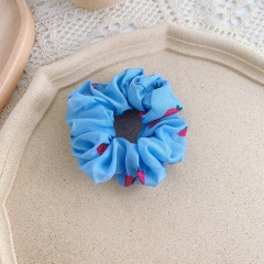 Fruit Large Intestine Hair Band Tie Hair Hair Accessories Rubber Band For Women Strawberry Blue