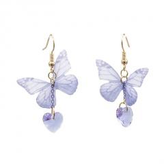 New Ladies Popular Korean Animal Butterfly Love Pendant Dangle Drop Earrings Butterfly
