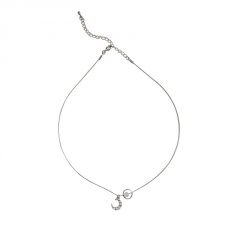 Moon Pendant Clavicle Silver Chain Charms Necklace Jewelry Moon
