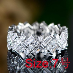 2020 Modern Fashion Women Ring Trend White AAA Crystal Zircon Engagement Design Rings for Women Wedding Jewelry Gift size 7